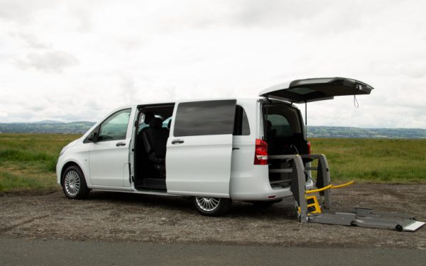 Lewis Reed Group | British Supplier of Wheelchair Accessible Vehicles | Van Wheelchair and Lift | white van rear