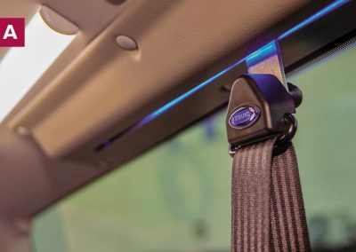 Wheelchair Accessible Vehicles | Lewis Reed Group | Seatbelt hook