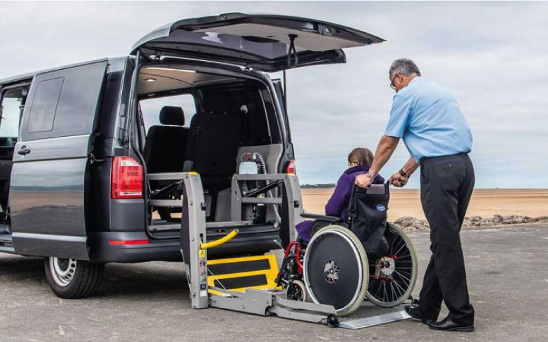 Lewis Reed Group | British Supplier of Wheelchair Accessible Vehicles | Van Wheelchair and Lift | grey van open
